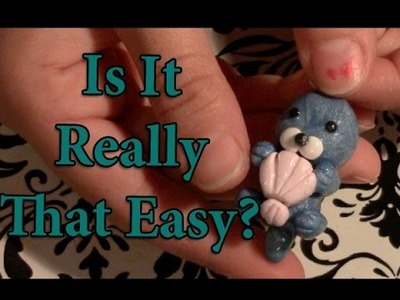 Is It Really That Easy?- Polymer Clay Otter Charm