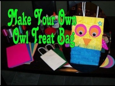 Make your Own Owl Treat or Goody Bag Favors for Kids' Parties