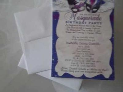 Masquerade Winter Wonderland Quinceanera Invitations  www.eventphotocards.com