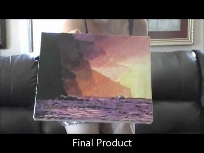 Melted Crayon Art - How To Hawaiian Sunset