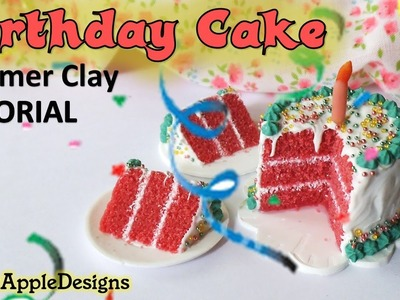 Miniature Polymer Clay Birthday Cake Tutorial - 2014