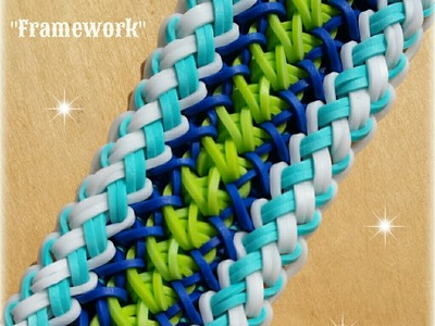 "New ""Framework"" Rainbow Loom Bracelet How To Tutorial"