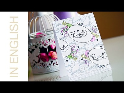 One Layer Stamping and Masking with Waffle Flower Crafts