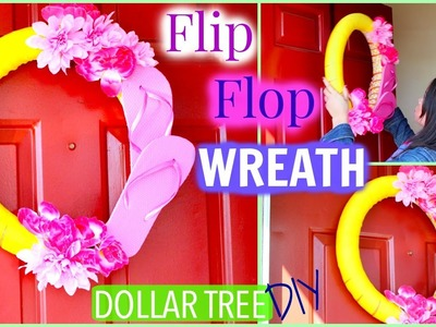 { POOL NOODLE } FLIP FLOP WREATH | DOLLAR TREE DIY | Sensational Finds