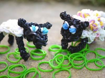 Shearable Sheep: rainbow loom band lamb with multiple looks
