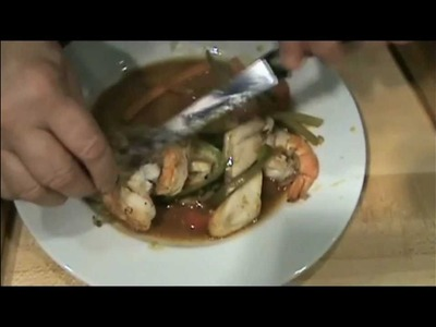 Shrimp & Tilapia with Vegetables cooked in parchment paper - Chef Cha Cha Dave's video recipe