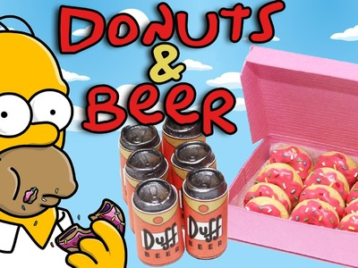 The Simpsons. Duff Beer & Donuts Polymer Clay Tutorial