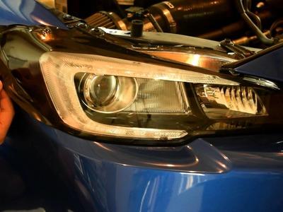 2015 & 2016 WRX & STi Crux Motorsports Headlight Film Overlays DIY installation tutorial