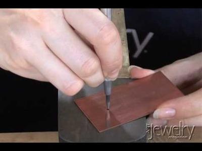Art Jewelry - Drilling Into Metal