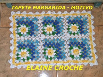 CROCHE PARA CANHOTOS - LEFT HANDED CROCHET - TAPETE MARGARIDA EM CROCHÊ FINAL CANHOTAS