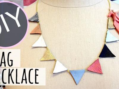 DIY Leather Necklace | Easy DIY Necklace | by Michele Baratta