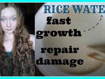 DIY Rice Water FAST GROWTH+REPAIR DAMAGE