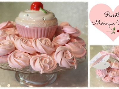 DIY- Rosette Mernigue Cookies (Valentine's Day)