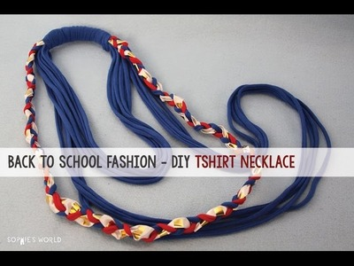 DIY Upcycled T-Shirt Necklace|Sophies World