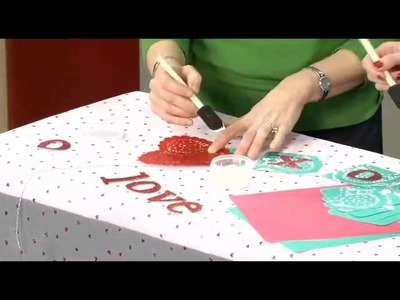 DIY Valentine Doily Banner