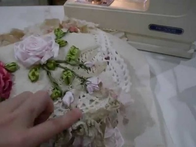 Doily Fabric Bag.Tote TUTORIAL