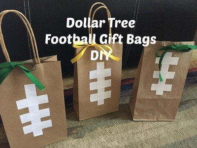 Dollar Tree Football Gift Bags DIY