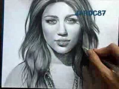 Drawing Miley Cyrus By Juan Andres