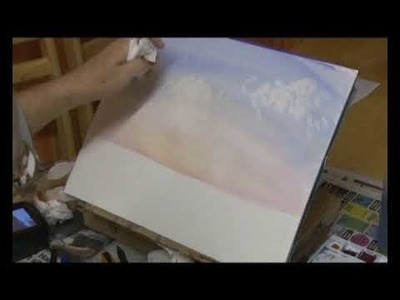 Free Watercolor tutorial lesson Cloud Painting for Landscape using Rough Brush techniques