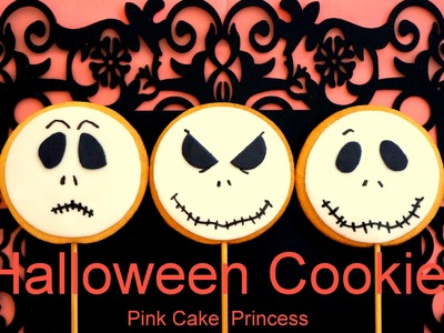 Halloween Cookies. Cupcakes Treats - How to Decorate Jack Skellington Treats by Pink Cake Princess