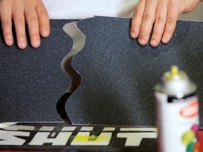 How to Cut & Apply a Grip Tape Design | Custom Skateboard