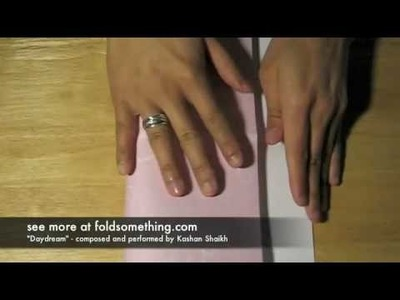How to fold an origami box with a lid