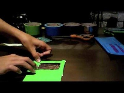 How To Make A Duct Tape Wallet With 6 Pockets And I.D. Card Holder Part 3