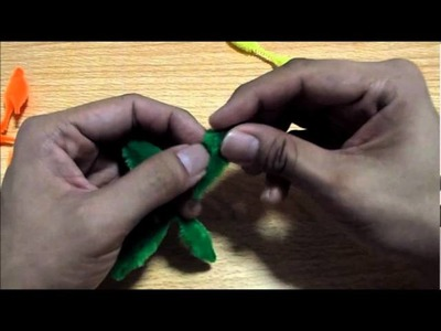 How to Make an 8-Petal Flower using Bump Chenille Stems