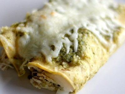 How to Make Chicken Enchiladas - Chicken Enchiladas Verdes