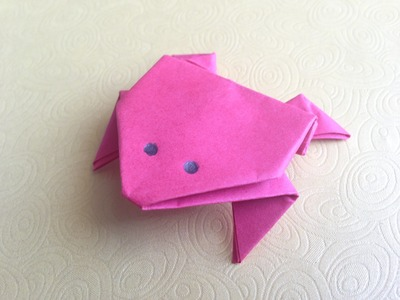 How To Make Origami Jumping Frog Easy For Beginners