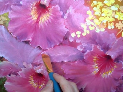 How to paint a flower petal. (1 of 2)