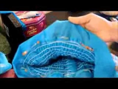 How to sew a Dress for baby girl with elastic thread.