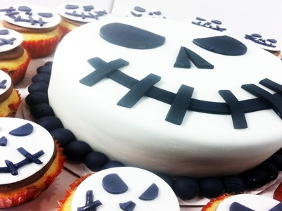 Jack Skellington Nightmare Before Christmas Cake & Cupcakes - How To