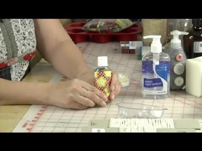Making Decorated Hand Sanitizer Soap Bottles : Soaps & Candles