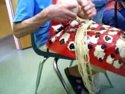 Nancy Today: Natural Dye (7) Beets and blueberries ASMR Sheep weaving 'Sounds of Nature'