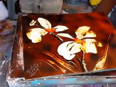 Orquídea flowers spray art