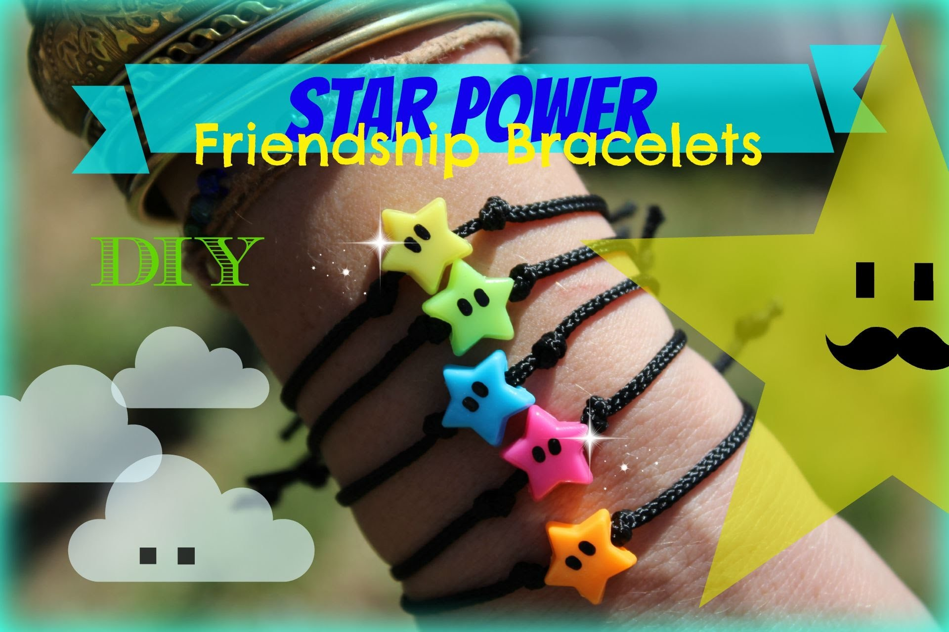Star Power Friendship Bracelets Mario Bros Inspired DIY Gifts or Party Favors