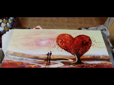 Valentine day spray art