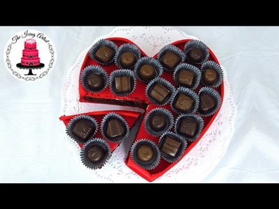 Valentines Day Chocolate Heart Cake - How To With The Icing Artist