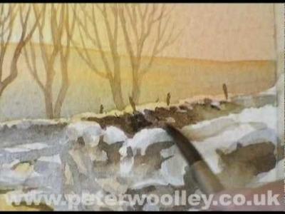 Winter in Wensleydale - Watercolour Demonstration by PETER WOOLLEY