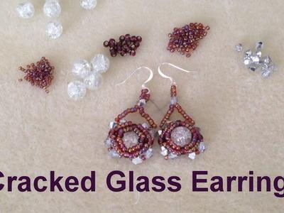 Cracked Glass Earrings--Beginner Tutorial