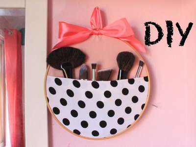 DIY: Inexpensive and easy make up brush organiser. make up brush pocket