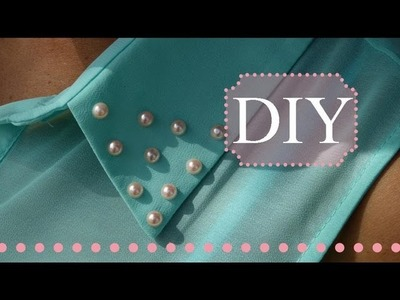 DIY Pearl Stud Collar | No Sew