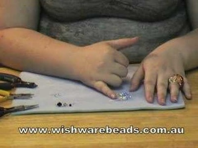 Drop Earrings Swarovski @Wishware Online Beading Classes