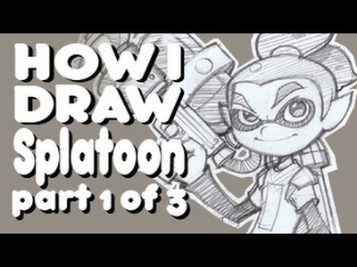 How I Draw Splatoon - 1. 3