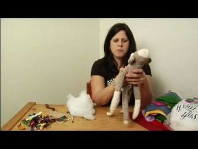 How to Make a Monkey Sock Puppet : How to Stuff a Sock Puppet
