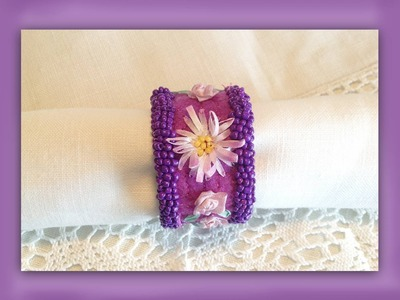 How to make a silk ribbon embroidered serviette ring