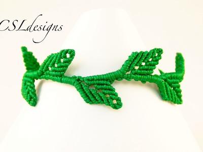 Macrame leaf bracelet
