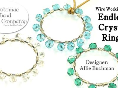 "Make "" Endless Crystal Ring "" Pendants or Earrings"