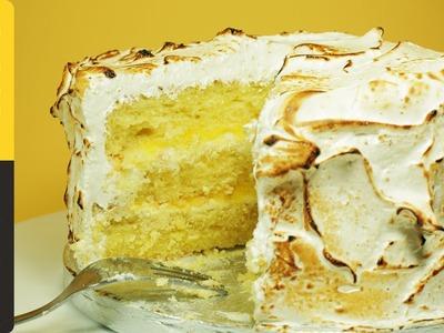 Triple-Layer Lemon Meringue Cake with Marshmallow Icing | Cupcake Jemma